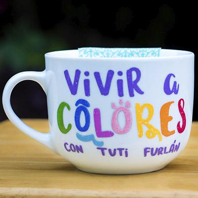Taza vivir a colores